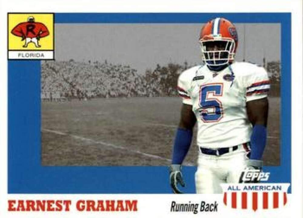 2003 Topps All American Football #123 Earnest Graham SP RC Rookie Florida Gators Official NFL Trading Card
