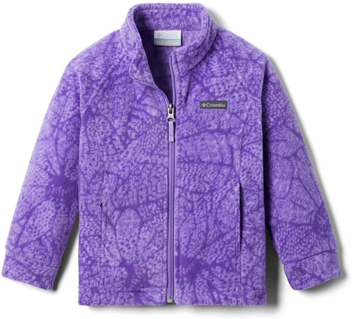 Columbia Baby Benton Springs II Printed Fleece, paisley purple flowers, 3/6