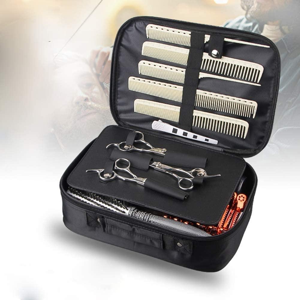 yangshil Barber Profession Scissor Case Salon Bag Hair Clips Cutting Thinning Profession Scissors Bag Comb Shears Organizer,Black,29x21cm