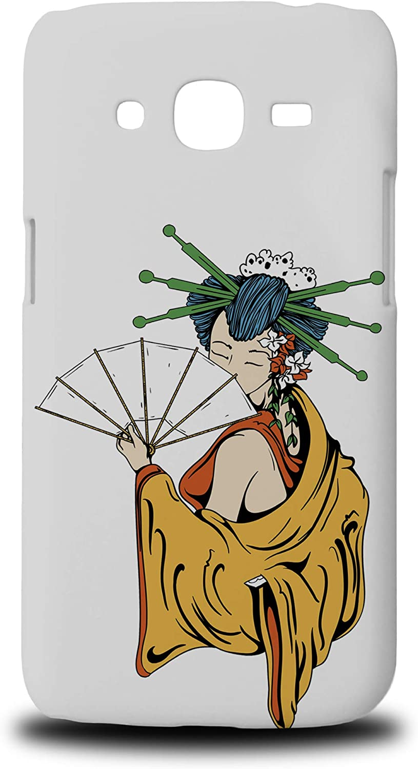 Japanese Geisha Sketch Art 2 Hard Phone Case Cover for Samsung Galaxy J2 (2016)