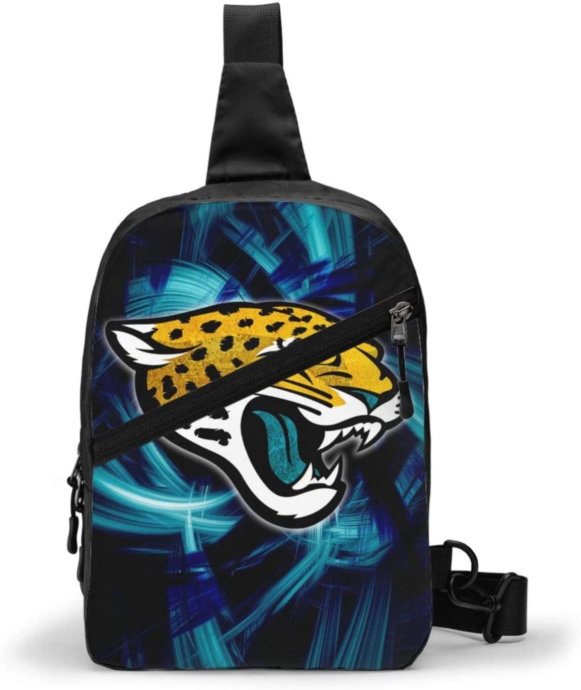 FDLB Jacksonville Football Jaguar Chest Package Sling Bag Large Capacity Multipurpose Daypack Men Women Chest Shoulder Backpack Casual Crossbody