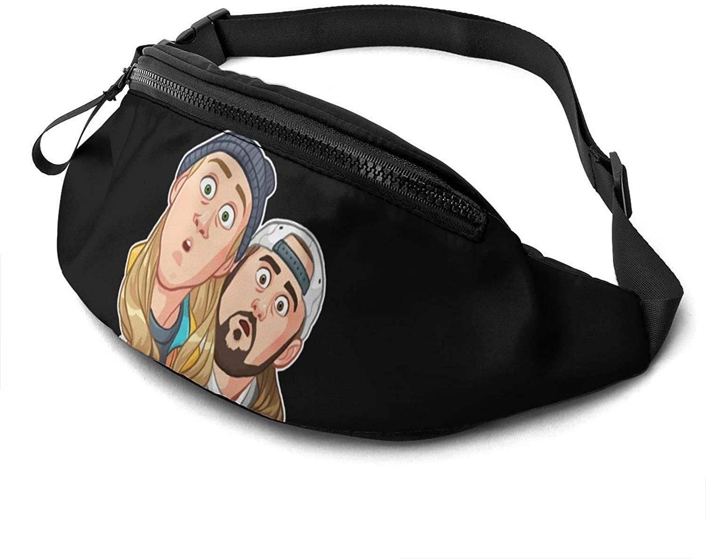 ATSH Jay and Silent Bob Reboot Waist Bag Water Resistant Large Hiking Fanny Pack Running Walking Traveling