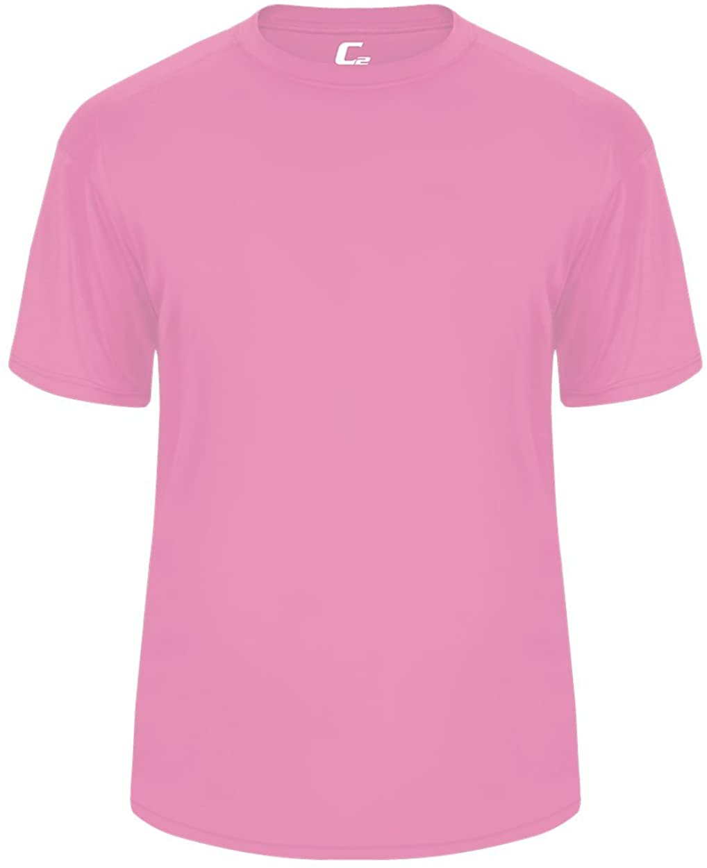 Pink Youth Medium Short Sleeve Performance Wicking Athletic Sports Shirt/Undershirt/Jersey