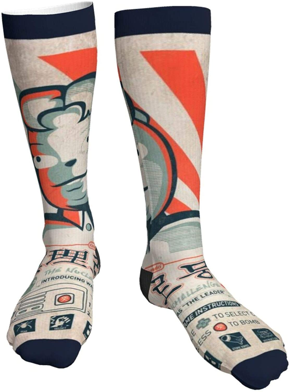 Mens Heavy Thick Socks The Waldo Moment Kim Jong Un Soft Comfort Crew Socks Casual Athletic 20in Long The-Calf Sock