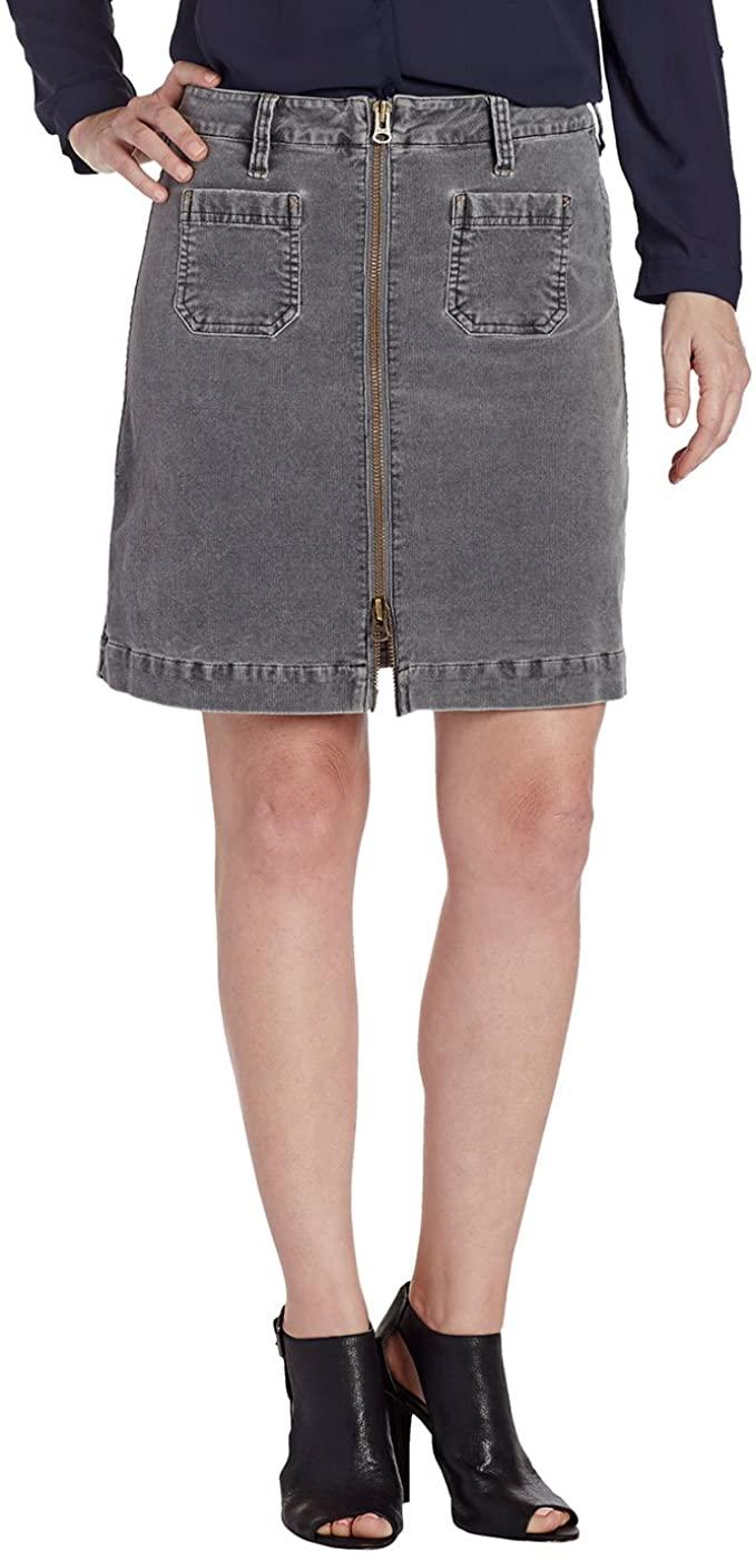 Jag Jeans Women's McCamey Zip Front Skirt in Refined Corduroy