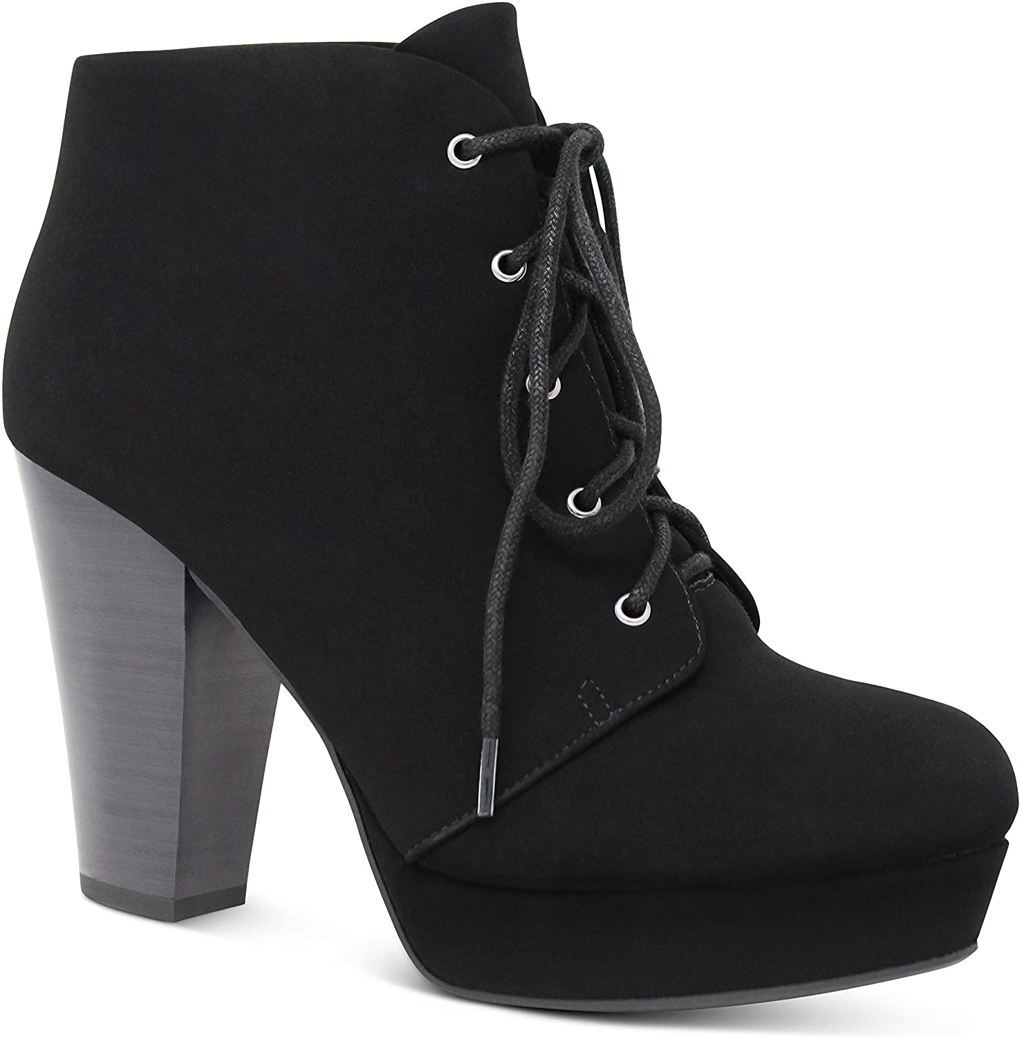 Marco Republic Budapest Womens Chunky Block Stacked Heels Platform Pumps Booties Boots