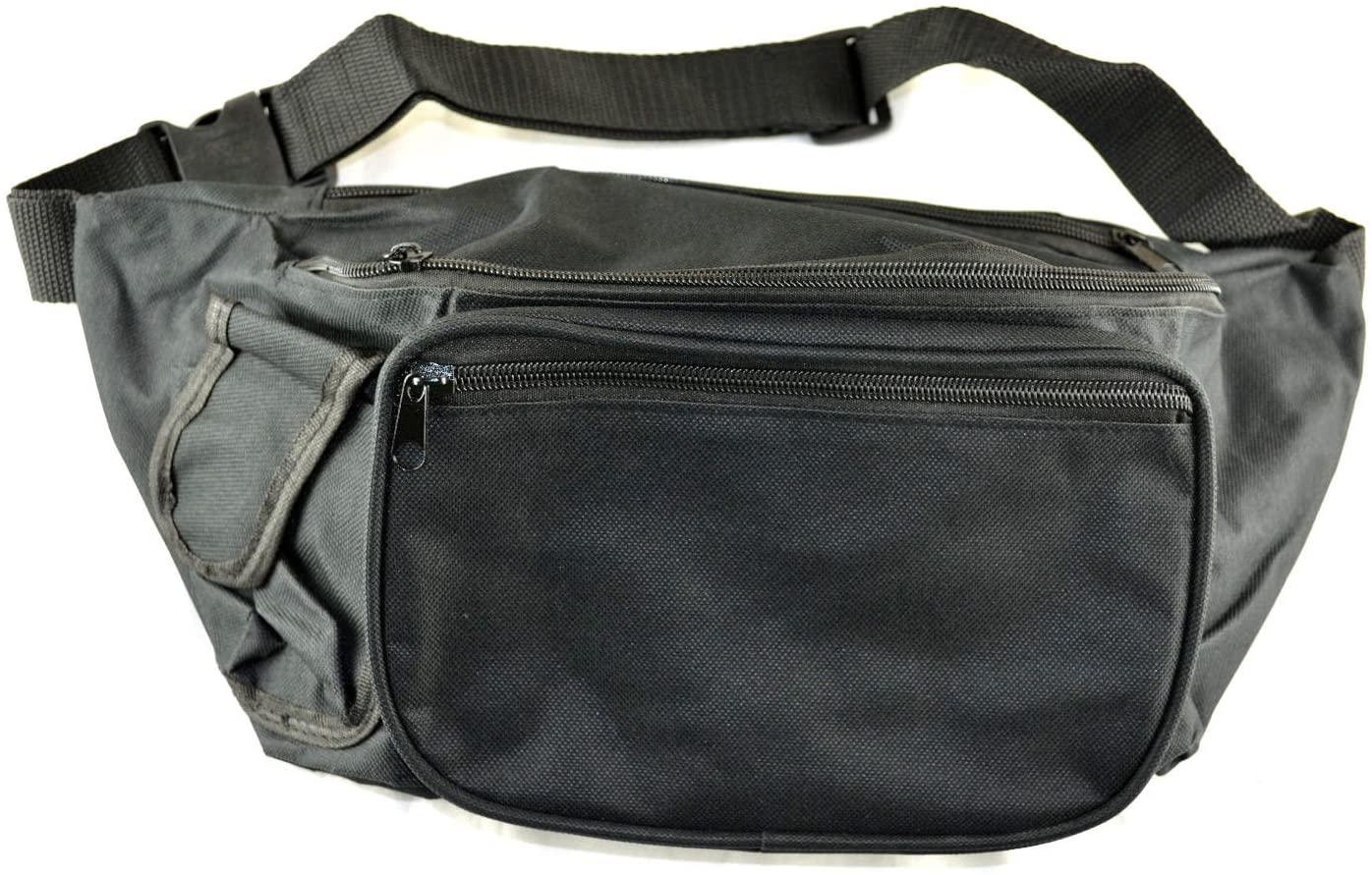 Black Fanny Pack Traveller Waist Bag