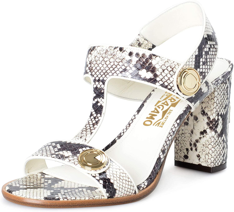 SALVATORE FERRAGAMO Women's EdictP Snake Skin Leather High Heel Sandals Shoes Sz US