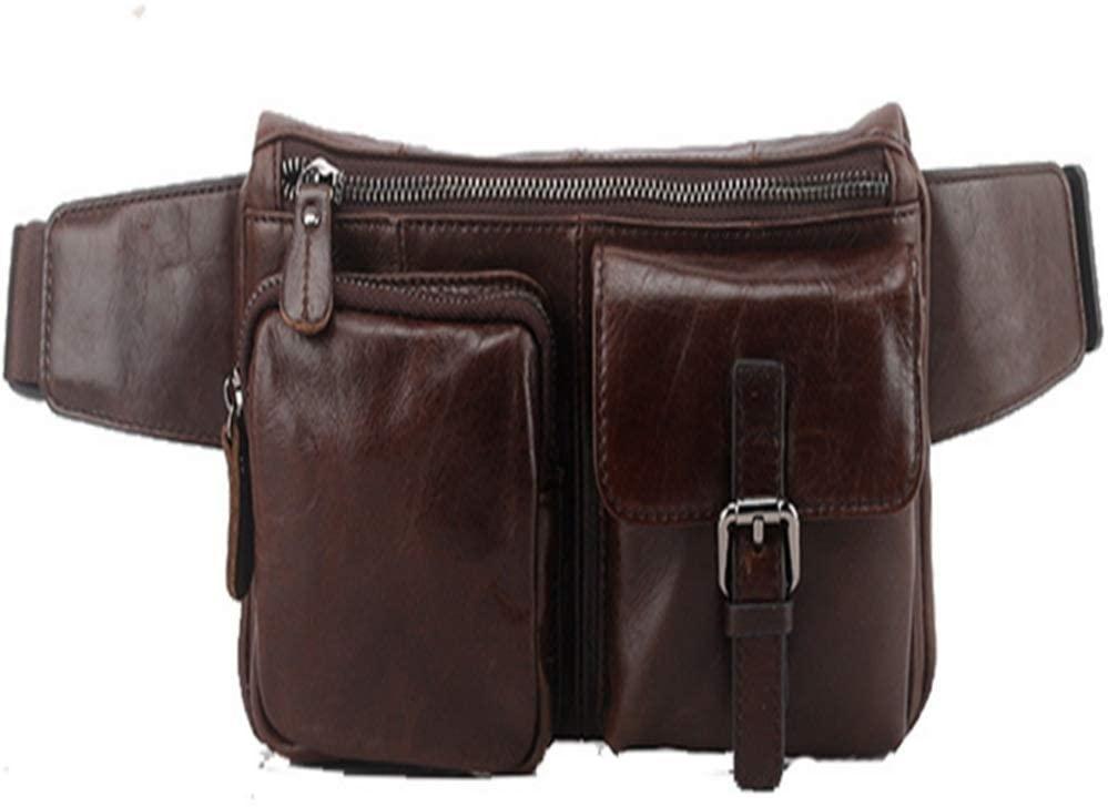 Zxcvlina-BB Travel Fanny Bag Waist Pack Sling Pocket Super Lightweight for Travel Cashier's Box Brown Cowhide Travel Neck Pouch Running Hiking Waist Bag
