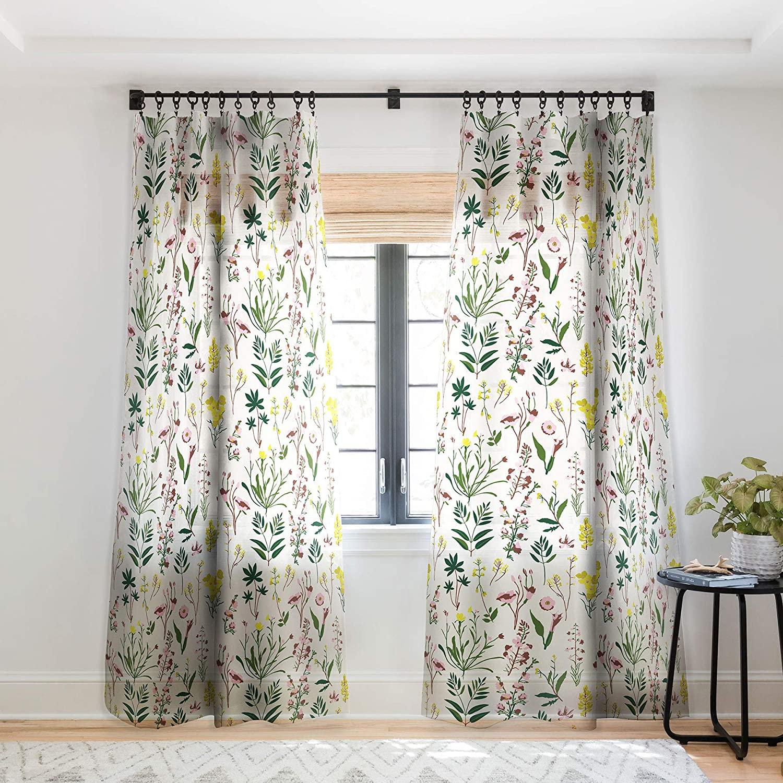 Deny Designs 65347-shwc05 Holli Zollinger Wildflower Study Light Sheer Curtains, 50