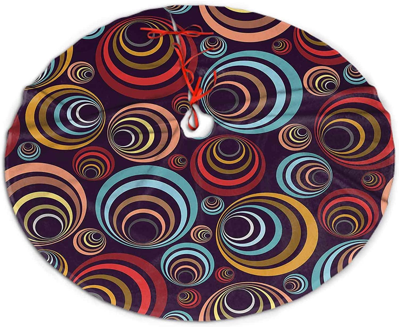 SoSung Christmas Tree Skirt Graphic Element Christmas Tree Holiday Decor 30