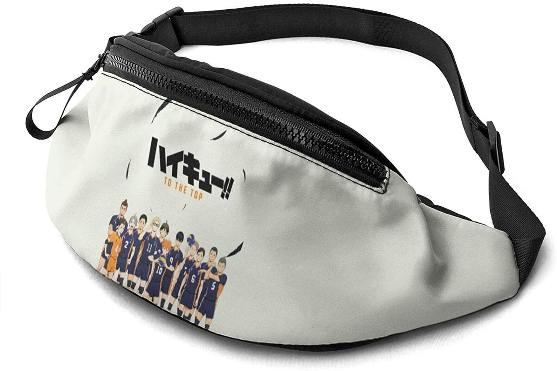 ATSH Haikyu!! Waist Bag Water Resistant Large Hiking Fanny Pack Running Walking Traveling