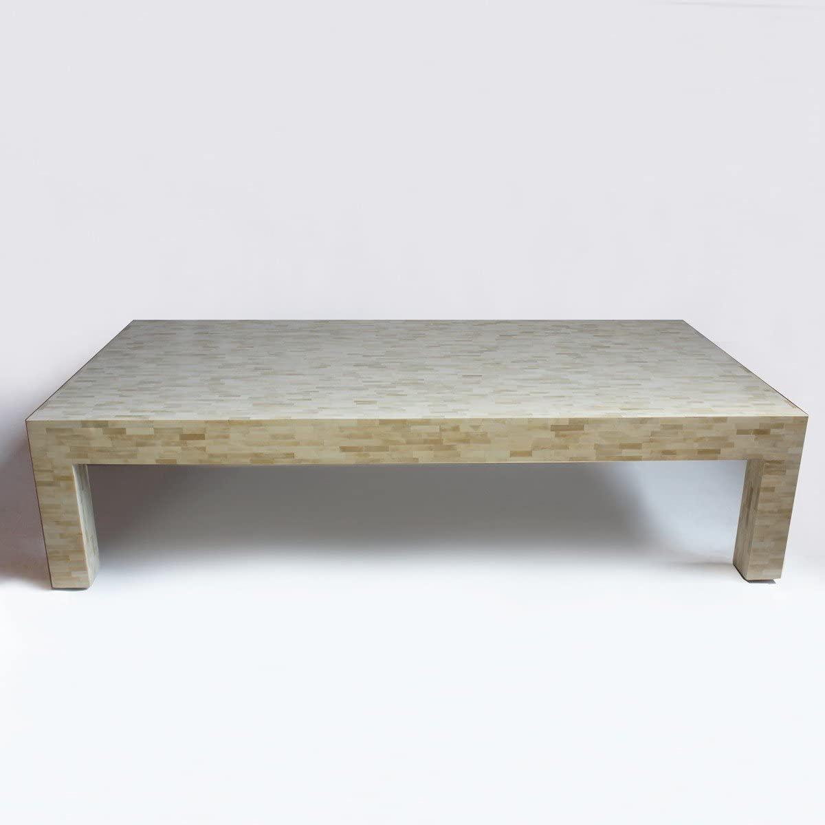 Bone Inlay Modern Antique Handmade Coffee Table
