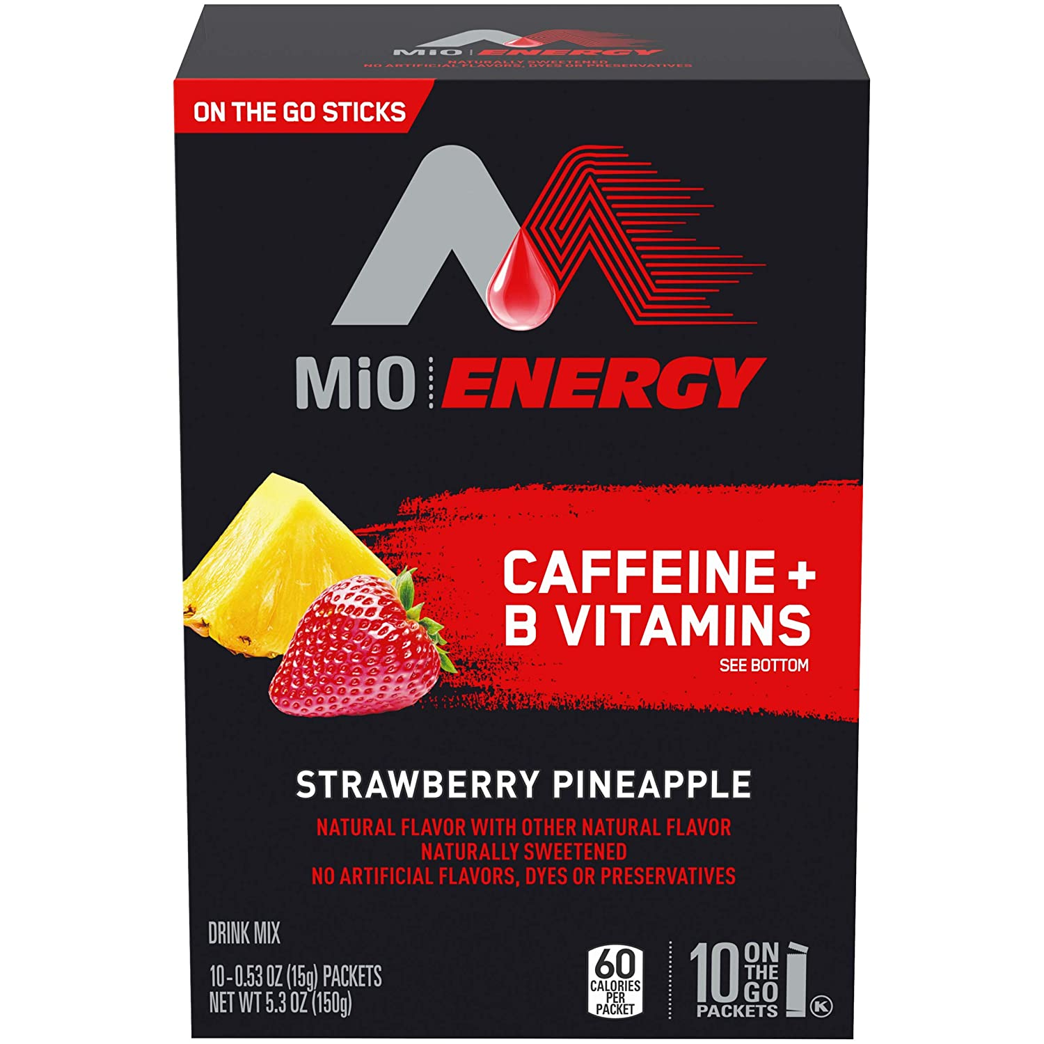 MiO Energy Strawberry Pineapple Drink Mix (10 On-the-Go Packets)