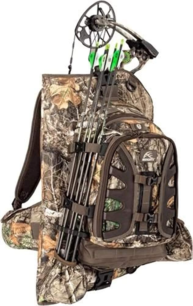Insights Hunting 9101 The Vision Heavy Duty Outdoor Hiking Fishing Bow Hunting Backpack with TS3 Tree Stand for Bowhunters, Realtree Edge Camouflage