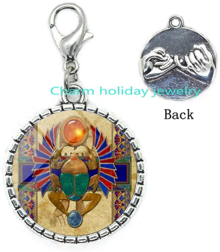 Fashion Egyptian Scarab Zipper Pull Ancient Egypt Jewelry Lobster Clasp Zipper Pull Jewelry for Women-#63