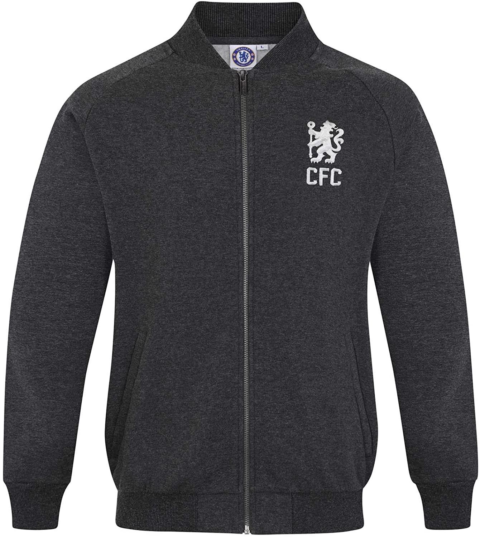 Chelsea Football Club Official Soccer Mens Retro Varsity Baseball Jacket