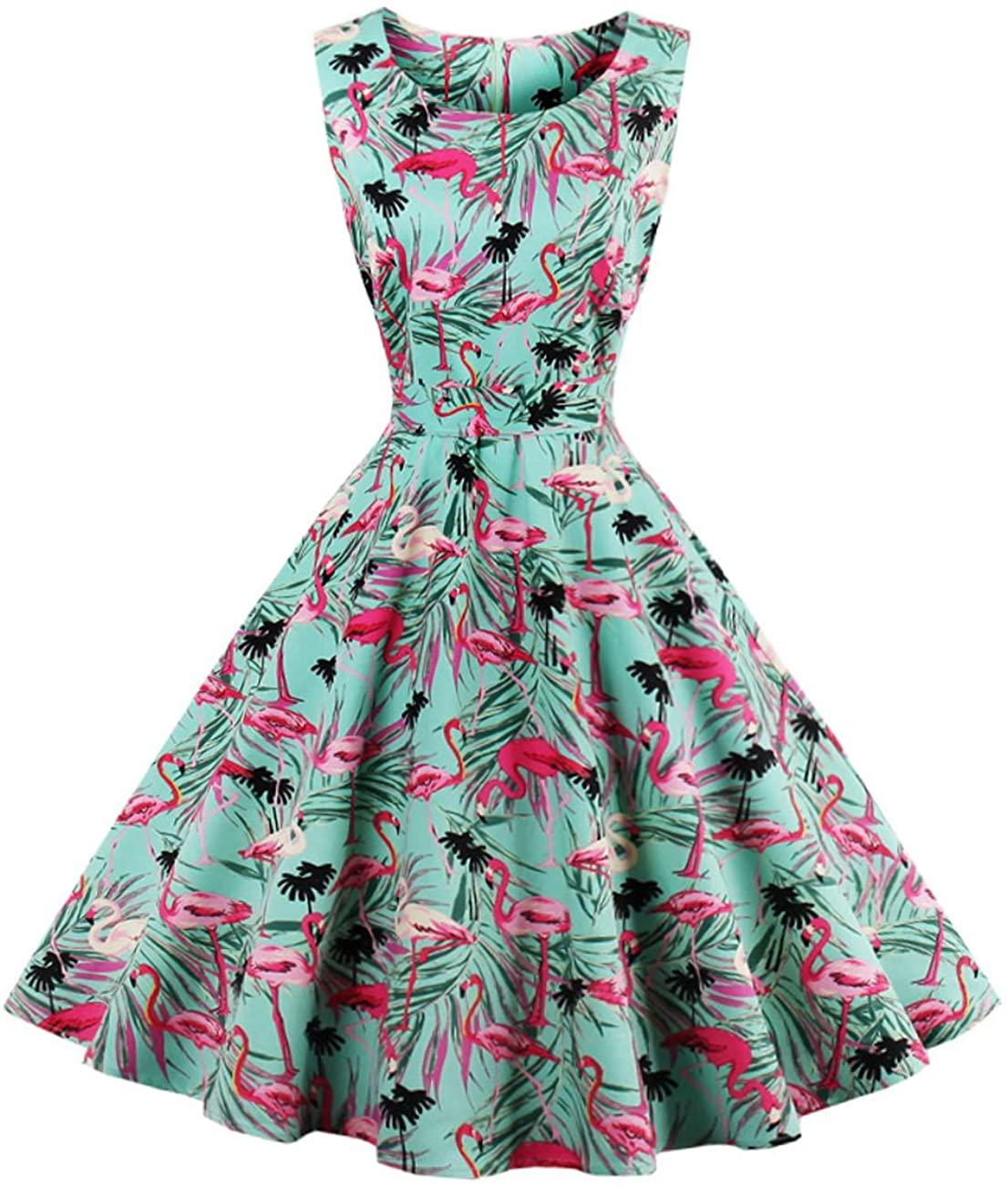 Fit Design Womens 1950S A Line Vintage Audrey Hepburn Style Party Dress