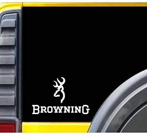TGS Topshop Browning Truck Door Reflective Design Window Stickers Auto Car Stickers 15cm