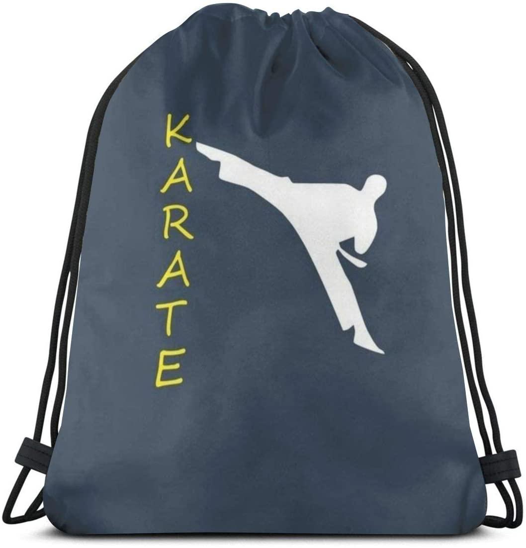 Backpack Drawstring Bags Cinch Sack String Bag Karate Character Sport Font Sackpack For Beach Sport Gym Travel Yoga Camping Shopping School Hiking Men Women