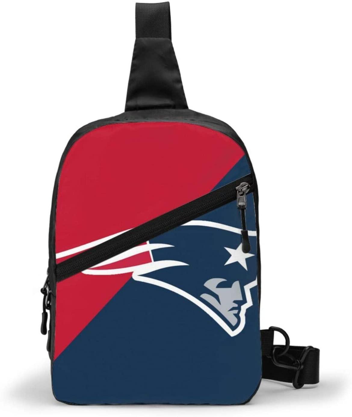 FDLB New England Football Patriot Chest Package Sling Bag Large Capacity Multipurpose Daypack Men Women Chest Shoulder Backpack Casual Crossbody