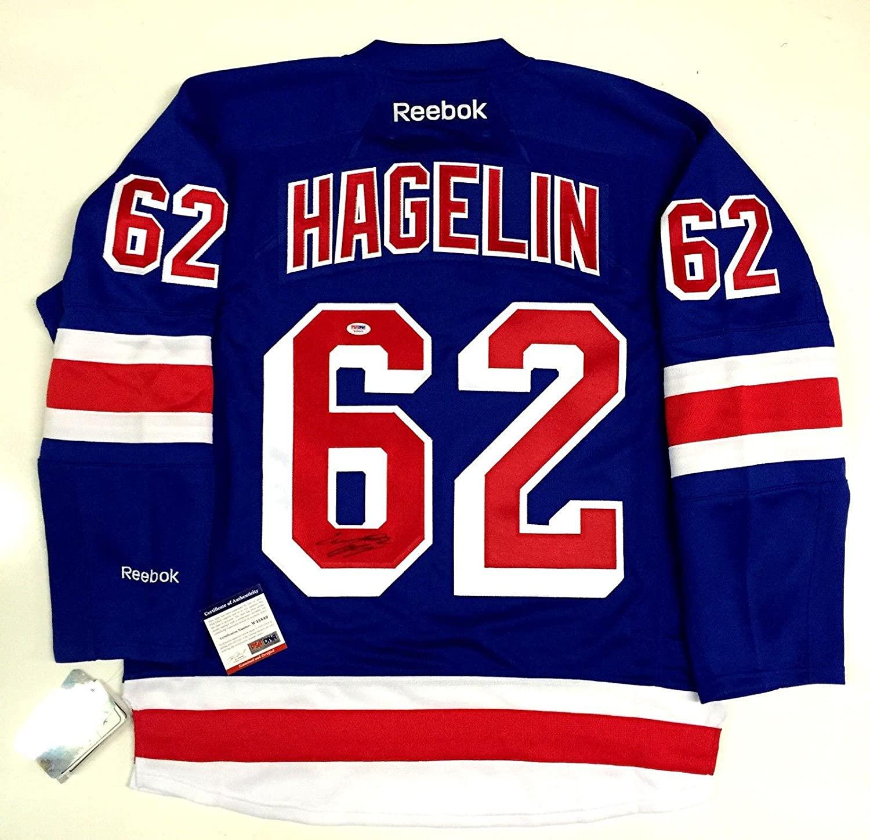 Carl Hagelin Signed New York Rangers Home Reebok Jersey Psa/dna Coa W45849 - Autographed NHL Jerseys