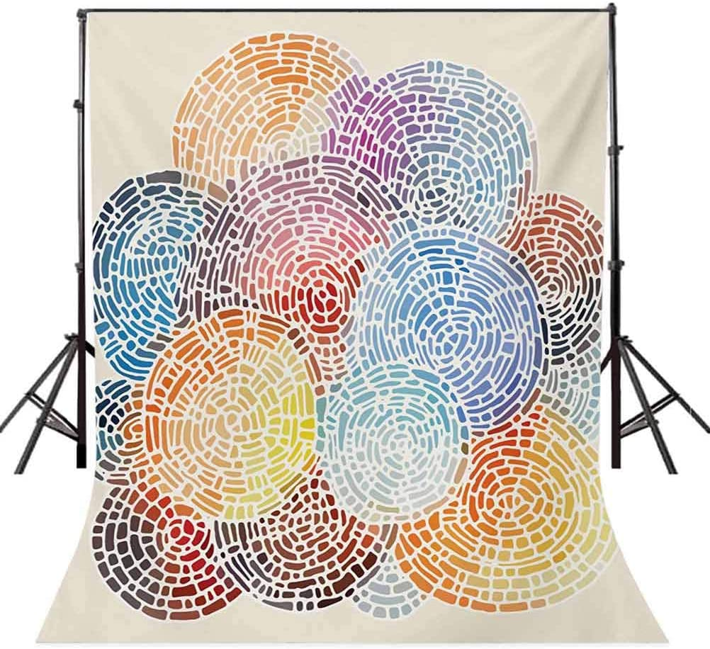 10x20 FT Backdrop Photographers,Abstract Mosaic Style Blots Spots Dots Watercolor Artistic Circular Illustration Background for Photography Kids Adult Photo Booth Video Shoot Vinyl Studio Props