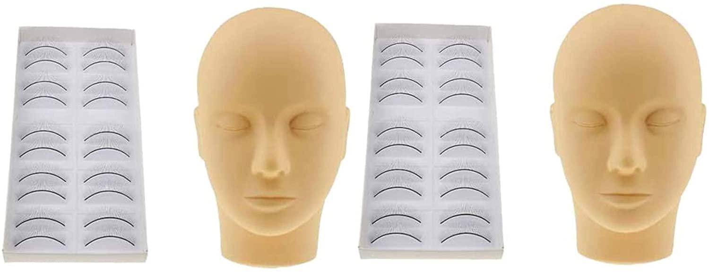 Professional Pro Salon Mannequin Training Makeup Eyelashes Extension Practice Tools Set