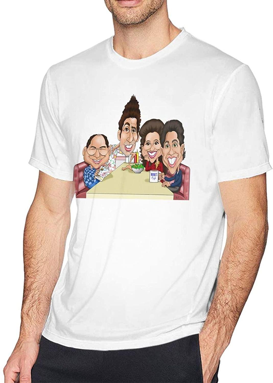 Gerneric Seinfeld Fashion Cotton Mens Short Sleeve Printed T-Shirt White