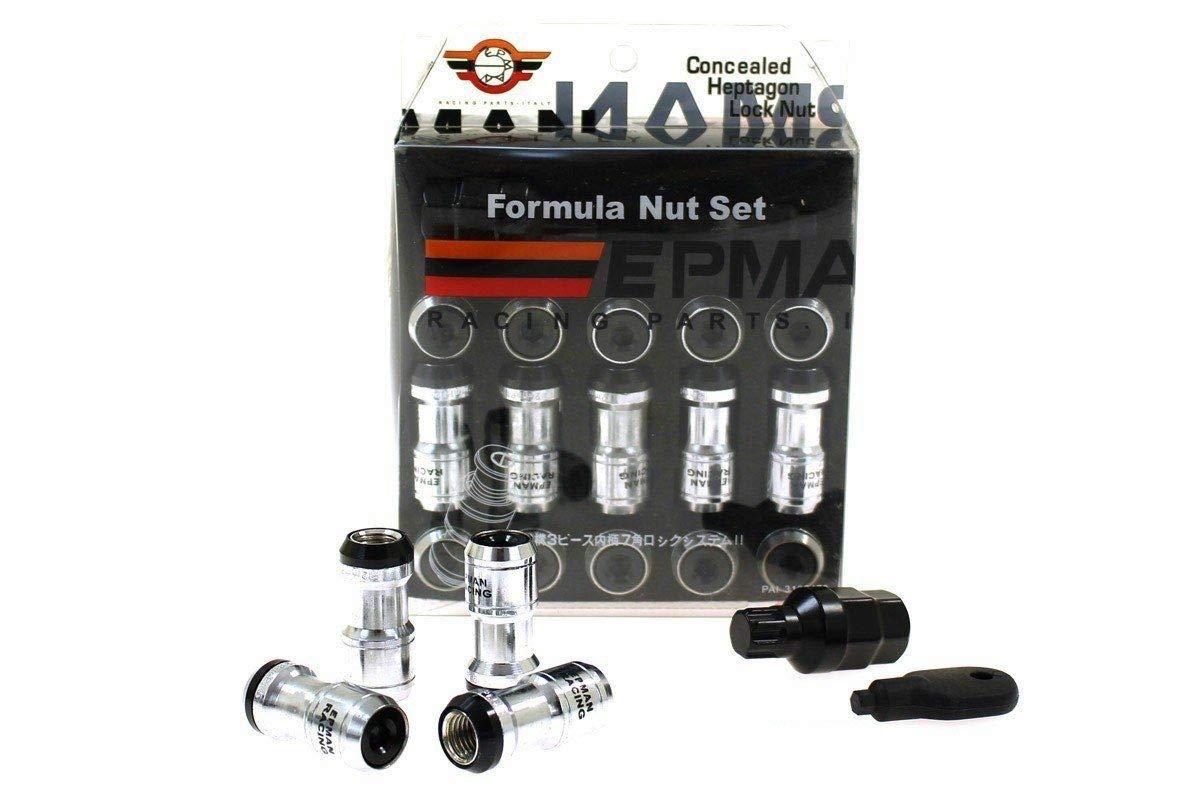 V-MAXZONE M-7289 WHEEL NUTS JDM PERFORMANCE M12X1.25 BLACK LOCKING