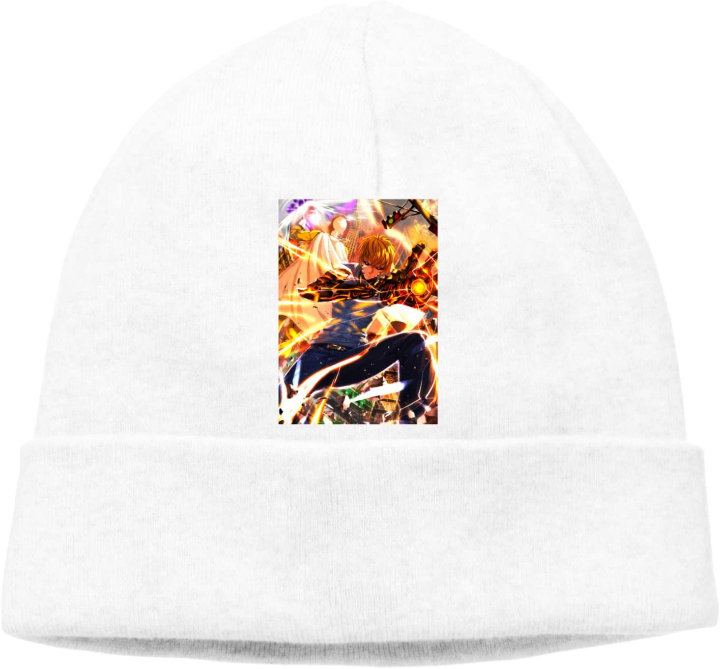 SineRich Men's and Women's One Punch Man-GENOS Hats Skull Cap Knitting hat Pullover Warm Hedging Cap (Thin Style)