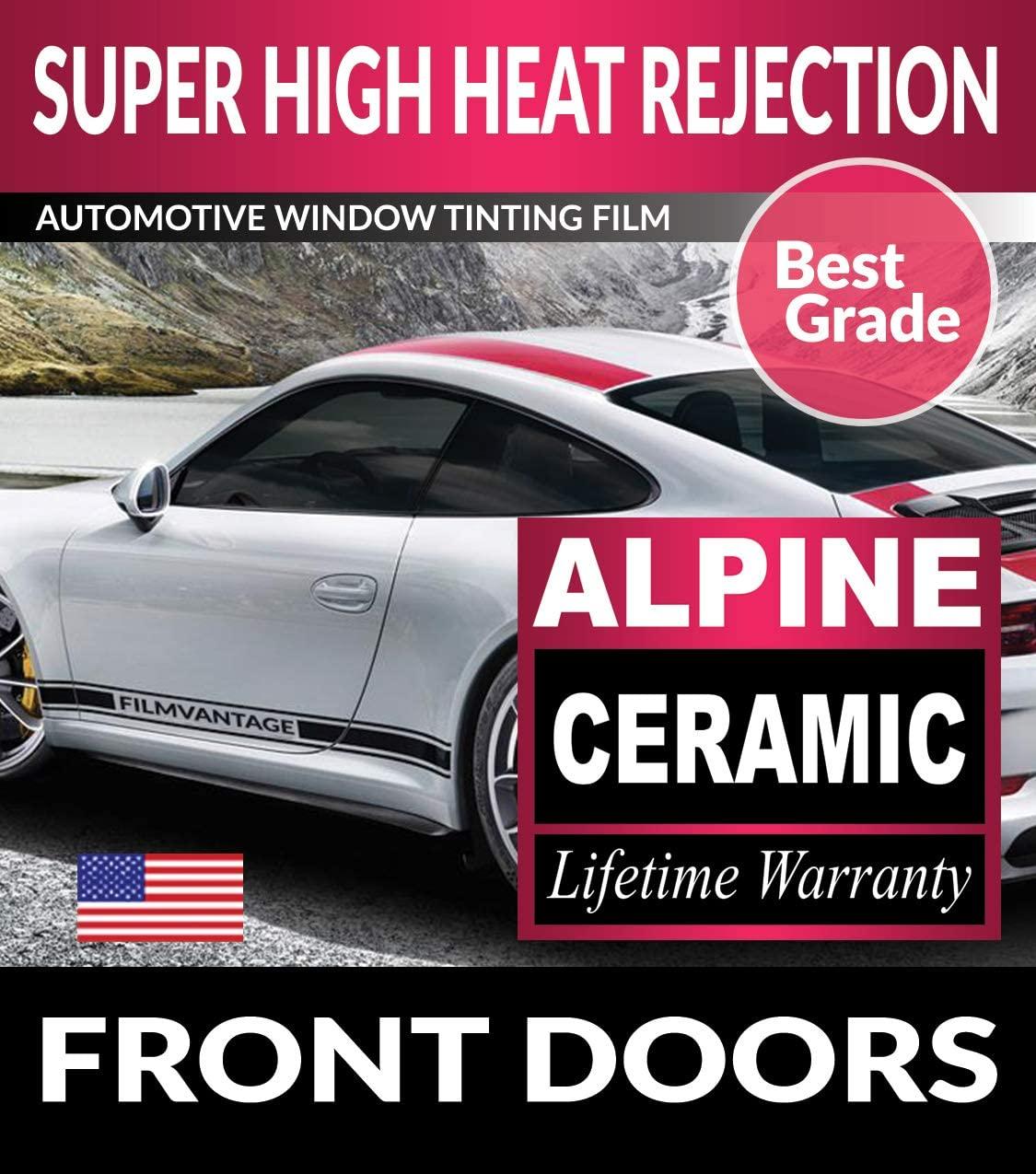 Super High Heat Rejection Alpine Precut Front Doors Tint for Gmc Sierra 1500 Double 2014 2015 2016 2017 2018 - F5%