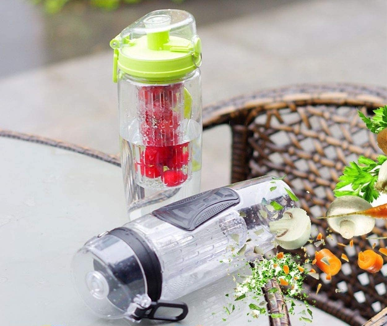 Foster's 32 Oz Fruit Infused Water Bottle with Sport Flip Top - BPA Free