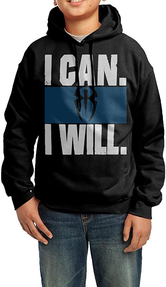 Unisex Youth Roman Reigns I CAN I Will Cool Hoodies