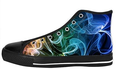 Customized Color Light Abstract Smoke New High Top Canvas Shoes For Men