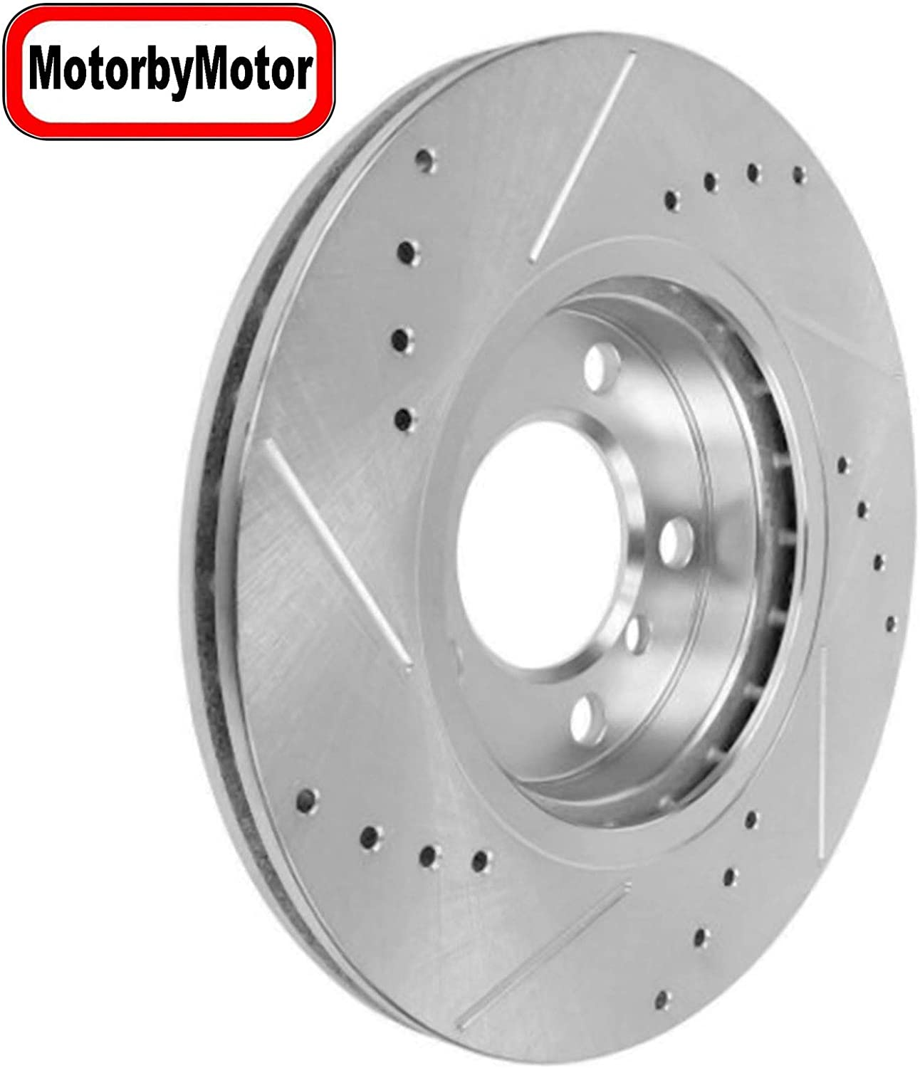 Front/Rear Drilled & Slotted Brake Rotors + Brake Ceramic Pads + Brake Cleaner Replacement for 2007-2009 Ford Edge, 2007 2008 Lincoln MKX