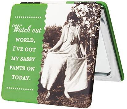 Shannon Martin Design Compact Mirror, Sassy Pants