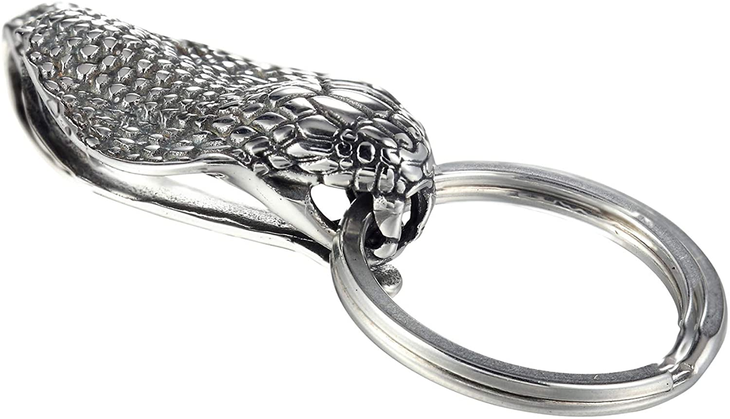 CHOMAY Key Chain Holders Stainless Steel Hip Hop Gothic 3D KeyChains with 3 Spilt Rings