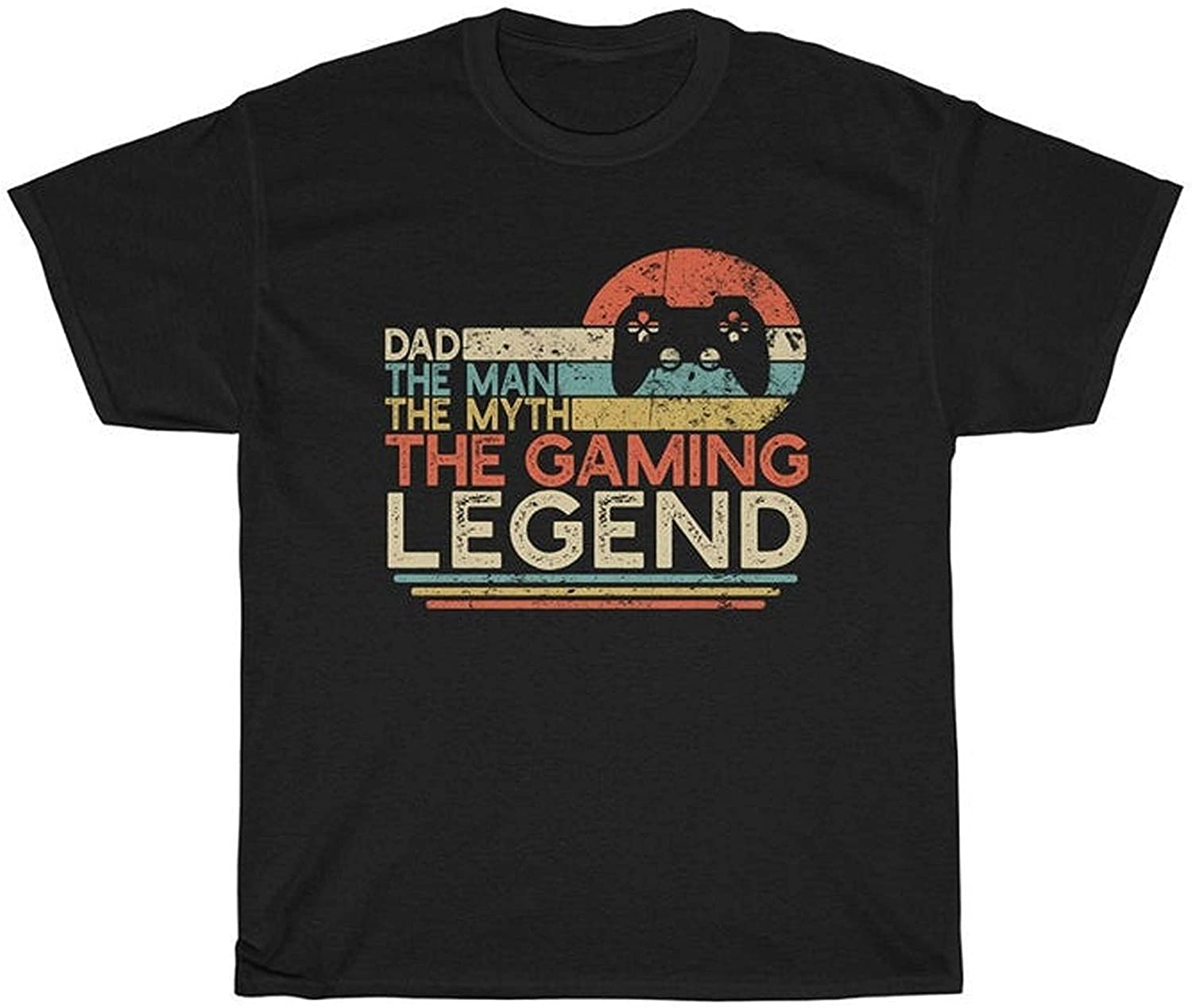 Dad The Man The Myth The Gaming Legend Vintage Video Gamer Gamer Dad T-Shirt Gift for Fathers Day