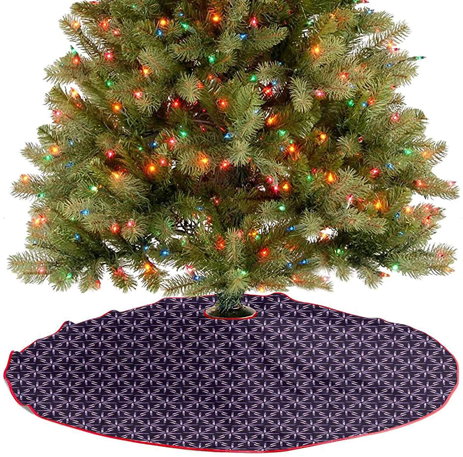 YOYI-Home Christmas Tree Skirt Patterns, Geometric Tree Skirts 30