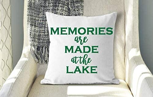 43LenaJon Memories are Made at The Lake Pillow, Cabin Decor, Lake Decor, Lake Life, Lake Living, Memories Quote, Lake Pillow, Hostess Gift