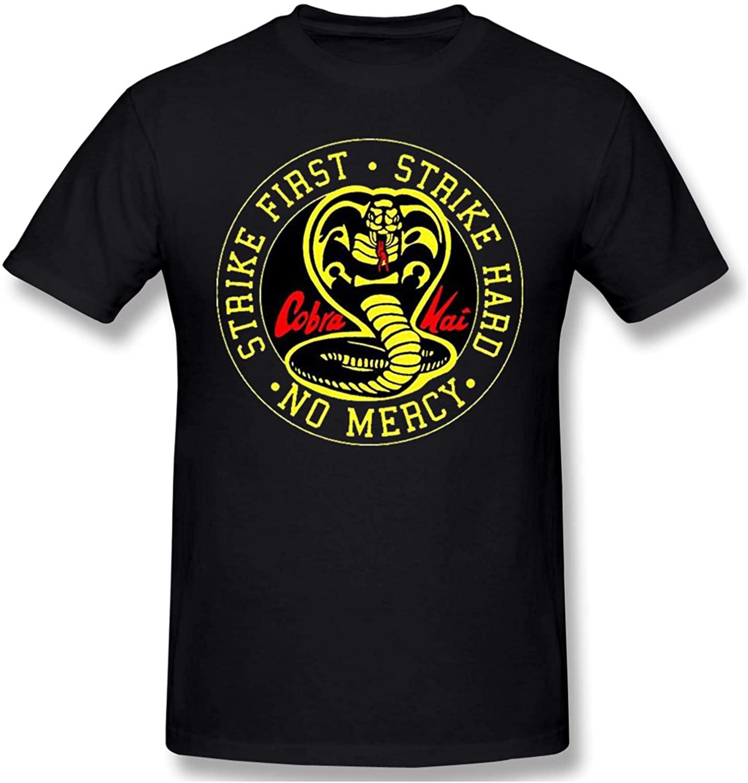 Cobra Kai Karate Dojo Men's Short Sleeve T-Shirt Personality is Cool Black