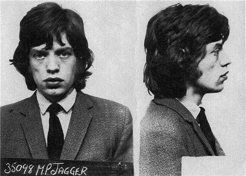 ConversationPrints Mick Jagger Mug Shot Glossy Poster Picture Photo Mugshot Rolling Stones UK