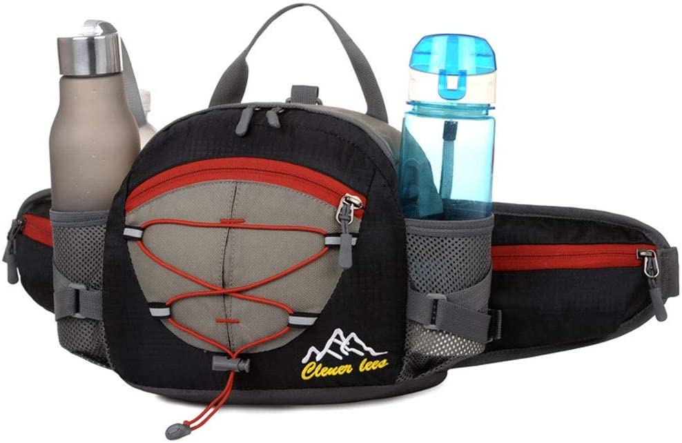 XL- Hydration Running Belt with Bottles - Fanny Pack for Woman&Men - for iPhone for Any Size, Hiking Jogging Pouch Waist Pack