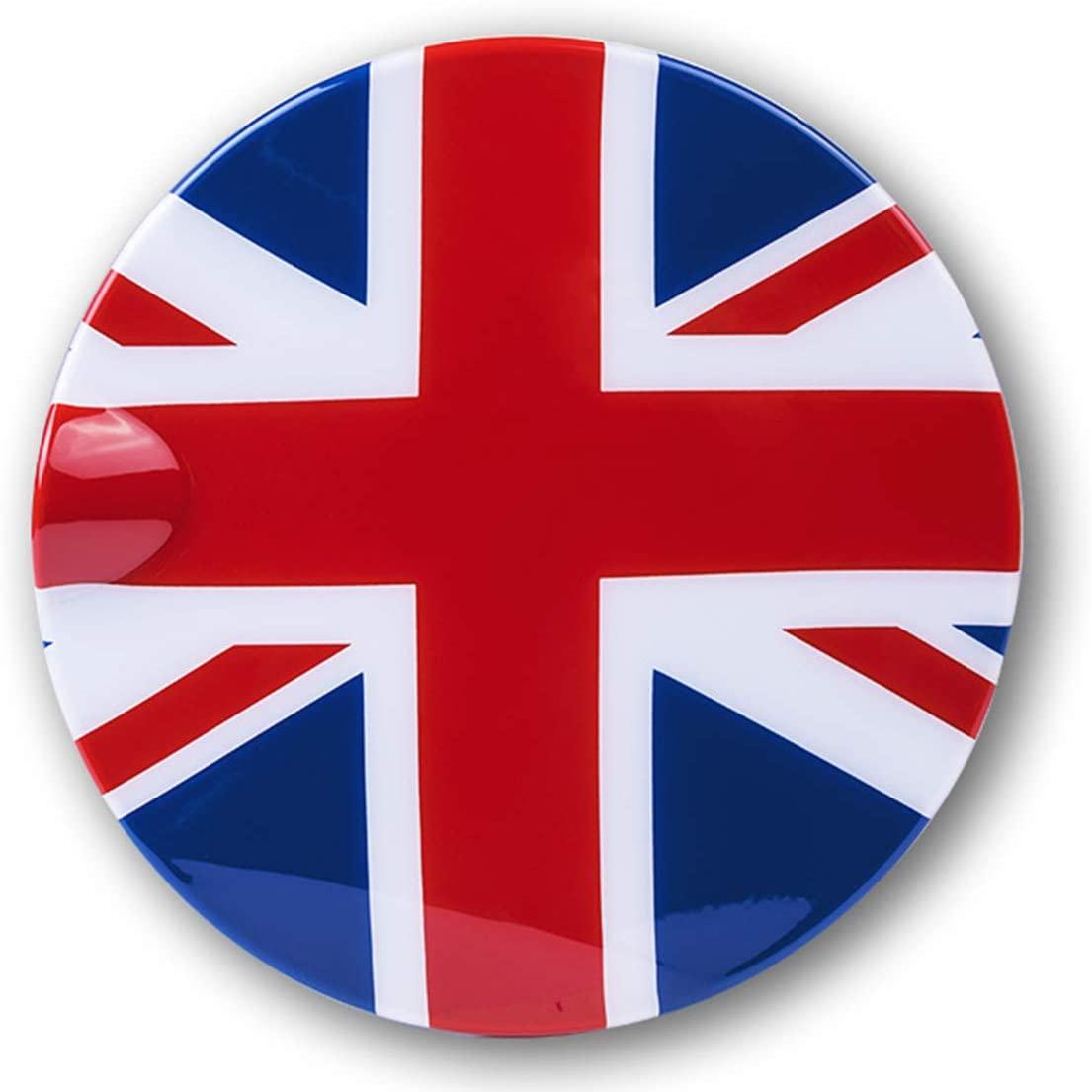 HDX Red/Blue Union Jack UK Flag ABS Sticker Cover Trim Cap for Mini Cooper ONE S JCW R Series R60 Countryman R61 Paceman 2010-2016 (Gas Tank Door Fuel Cap)
