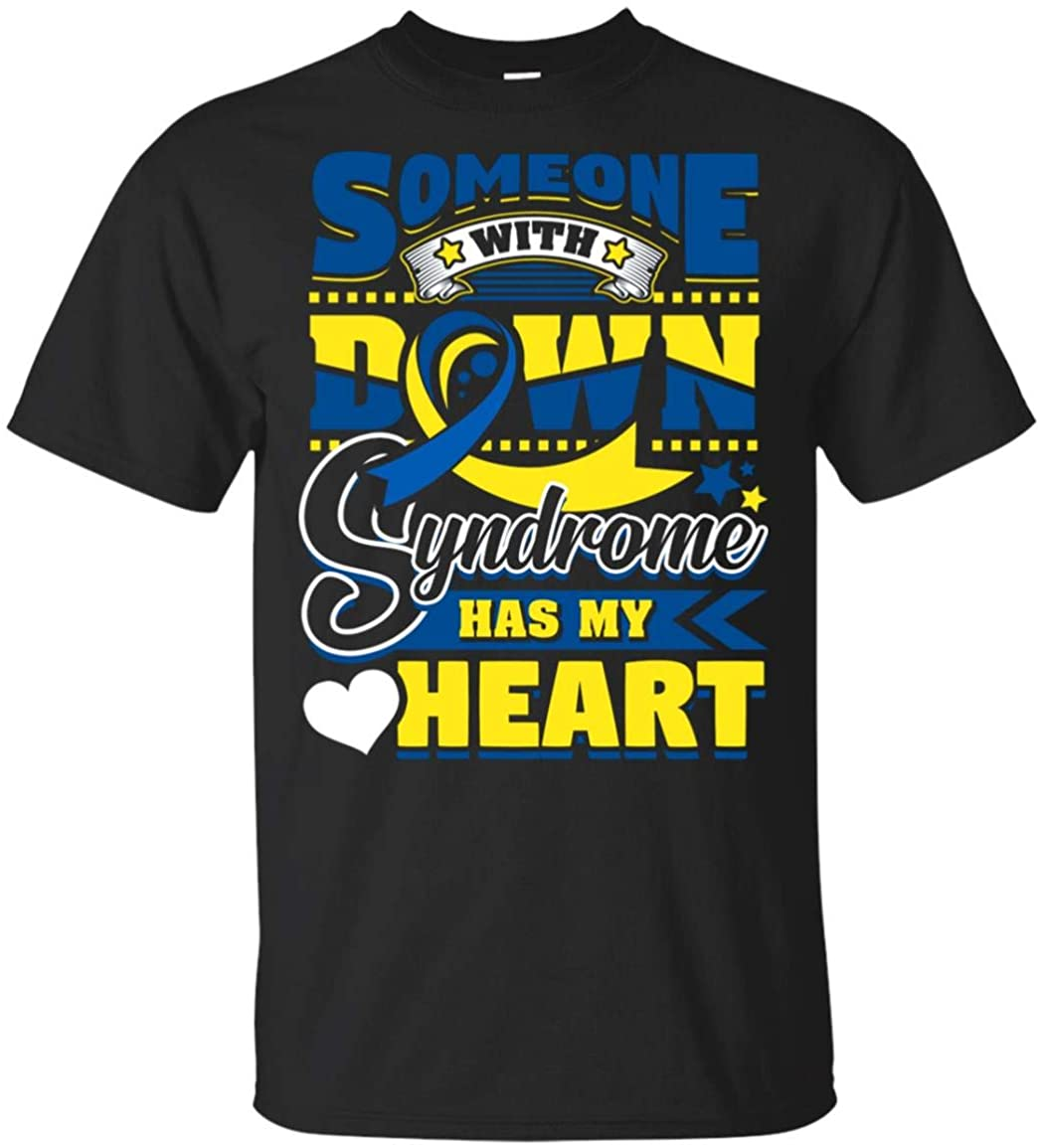 Daily Motivational and Funny Quotes Someone with Down Syndrome has My Heart t-Shirt