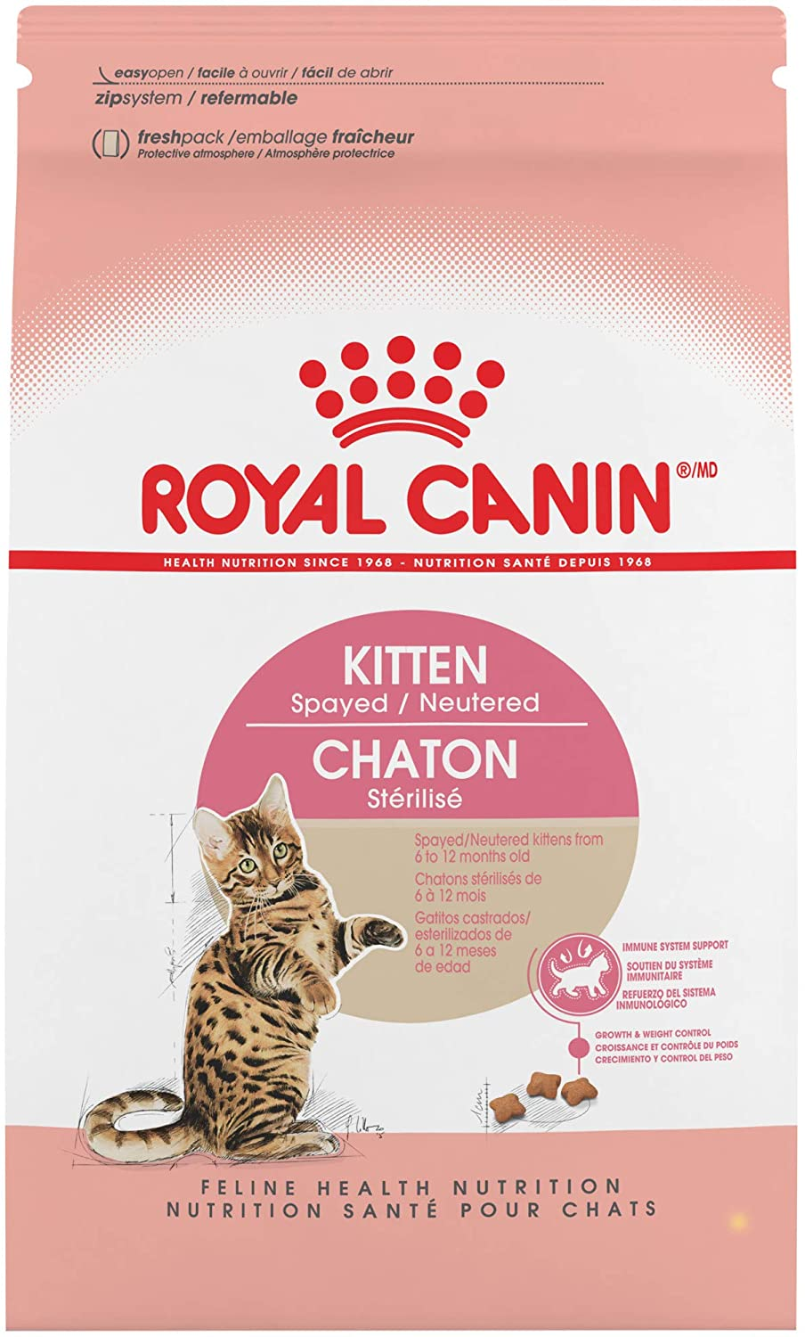 Royal Canin Feline Health Nutrition Spayed/Neutered Dry Cat Food for Kittens, 2.5 Pound Bag