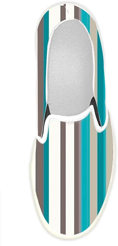 Custom Men's Shoes Classic Colorful Stripes Slip-on Canvas