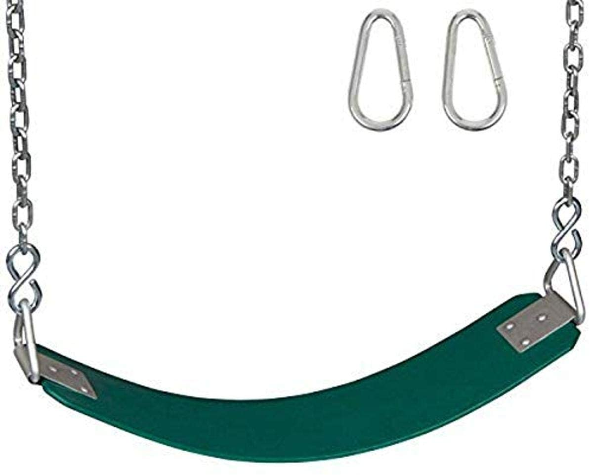 Swing Set Stuff Polymer Belt Chains and Hooks and SSS Logo Sticker Playground Accessory, Green