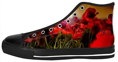 Daniel Turnai Fan Customized Poppy Top Canvas Shoes for Women